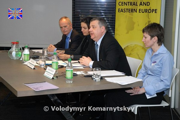 Niall Cullens (Head of Commercial Section of British Embassy in Kyiv) chairs the session.