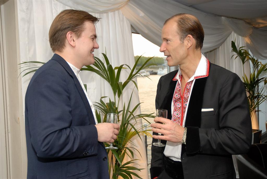 Taras Chaban (UBCC) and HRH Prince Kyril of Bulgaria