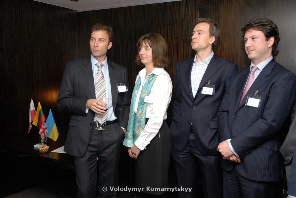 Zarko Iankov (BCC), Irina Tymczyszyn (UBCC), Linas Ciapas (LCLC) and Archil Kekelia (GCC)