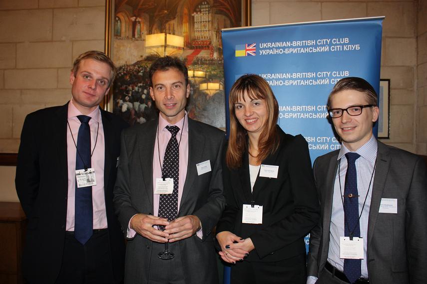 Agris Lauzinieks (British Latvian Chamber of Commerce), Zarko Iankov (BCC), Irina Tymczyszyn (UBCC), Marcis Skadmanis (British Latvian Chamber of Commerce)